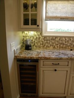 Our French Country Inspired Kitchen Remodel-small wine cooler