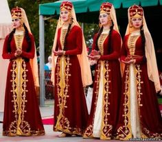 national costumes residents of the North Caucasus (Russia)