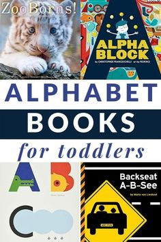 Enjoy these playful and hands-on books to explore the alphabet with toddlers. Alphabet books for toddlers even includes a printable list. #alphabetbooks #toddlers #abc #GrowingBookbyBook Kindergarten Books, Preschool Books, Toddler Preschool, Alphabet For Toddlers, Toddler Alphabet, Toddler Books, Childrens Books, Second Grade Books, Alphabet Books