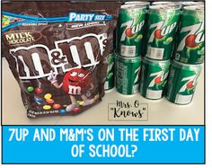 What would you say if I said that I use and M&M's on the first day of school? You're probably thinking that I'm crazy, wanting t. diy for back to school, back to school handbook, back to school supplies diy First Day Of School Activities, First Day School, Beginning Of The School Year, New School Year, Middle School, High School, 4th Grade Classroom, Classroom Activities, Classroom Ideas