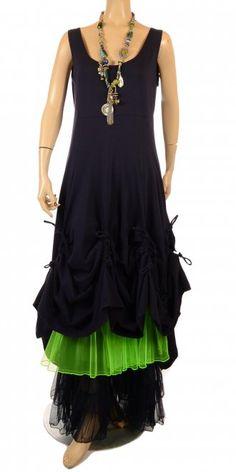 Amandine Beautiful Navy Long Lagenlook Petticoat