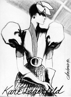 Modèle Karl Lagerfeld #fashion #illustration