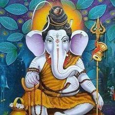 Artist:- Unknown DM for credits/removal… – Norse Mythology-Vikings-Tattoo Shri Ganesh, Ganesha Art, Lord Ganesha, Lord Shiva, Krishna, Sai Baba Wallpapers, Ganesh Images, Hindu Mantras, Ganesha Painting