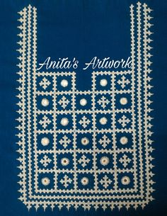 Anita's Artwork..... Kasuti Embroidery, Phulkari Embroidery, Embroidery On Kurtis, Kurti Embroidery Design, Embroidery Neck Designs, Hand Embroidery Videos, Border Embroidery, Hand Embroidery Flowers, Embroidery Works