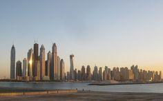 Blick auf Dubai und Baustellen 2011 - http://barbaras-reisen.blogspot.de