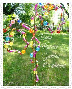 20 Amazing DIY Accessories for Your Garden- Bead Buster Garden Ornament Garden Web, Lawn And Garden, Balcony Garden, Garden Junk, Garden Items, Porch Garden, Terrace, Lawn Ornaments, Garden Ornaments