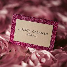 Escort Cards, Place Cards, Seating Cards for Any Suite! Glitter place cards, glitter escort cards, 2014 wedding trends