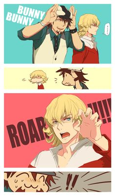 Tiger x Bunny humor - Awz! Bunny is so cute! <3 Makes me wanna cuddle!