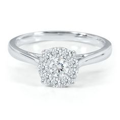 SMART VALUE® 1/2CT TW DIAMOND ENGAGEMENT RING only for $799