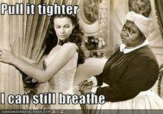 Pull it tighter  I can still breathe
