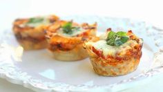 Mini lasagne in cupcake vorm