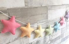 Pastel Rainbow Star Bunting, Pastel Star Garland, Rainbow Felt Garland, Pastel N… Rainbow Room, Rainbow Nursery, Rainbow Star, Star Garland, Felt Garland, Nursery Bunting, Nursery Decor, Nursery Ideas, Baby Crafts