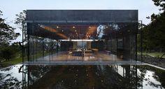 Osulloc Tea House Pavilions. Architects: Mass Studies. Tea house on tea farm.