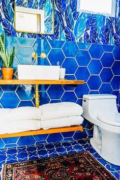 Justina Blakeney's Jungalicious Master Bathroom | Installation Gallery | Fireclay Tile