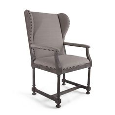 Bliss Studio SE-6528-A Castile Wing Chair Wingback W 29.5 D 25 H 48 SH 28.5 SH 19.5 Natural Fabric Stretcher Armchair $1720