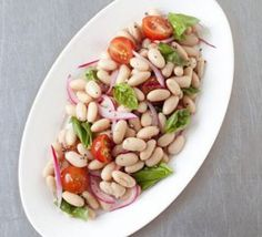 Cannellini bean, cherry tomato & red onion salad