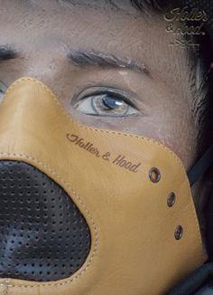 Motorcycle mask holler&hood Thunderbird hog nose/motorcycle leather mask/cafe racer mask/leather riding mask/Built for speed !! de la boutique HollerandHood sur Etsy