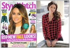 """As Seen In: People Style Watch-Fall Must-Haves!  Our Block Party Blouse featured in Sept. 2014 People StyleWatch spread about Fall Must-Haves. """"Check out our guide to the season's hottest styles–from modern plaid to boxy bags. Plaid: a timeless print looks fresh on of-the-moment silhouettes from crop tops to moto jackets. Pair it with black and white extras to keep the look chic."""""""