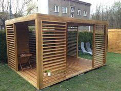 4 Spectacular Innovations For Backyard Gazebo, Backyard Patio Designs, Pergola Patio, Backyard Landscaping, Modern Outdoor Furniture, Outdoor Rooms, Modern Gazebo, Garden Seating, Pink Eyes