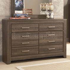 Features:  -Granite Range collection.  -Assembled in the United States with global components.  Frame Material: -Manufactured wood.  Product Type: -Standard dresser (horizontal).  Finish: -Brown.  Cou
