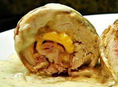 Receta de Pechugas de pollo rellenas y a la mostaza - Recetas de Allrecipes