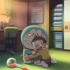 Aesthetic Cute Doraemon And Nobita Wallpaper Hd Cartoon Wallpaper Hd, Sad Wallpaper, Cute Disney Wallpaper, Wallpaper Iphone Cute, Doremon Cartoon, Cartoon Drawings, Doraemon Wallpapers, Cute Wallpapers, Doraemon Stand By Me