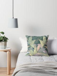 Pillow, Design by Anna Maisner. Leaves.