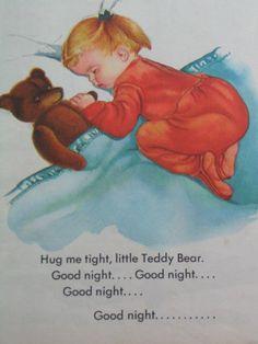 My Teddy Bear Vintage Little Golden Book by by TheVintageRead. Art by Eloise Wilkin.
