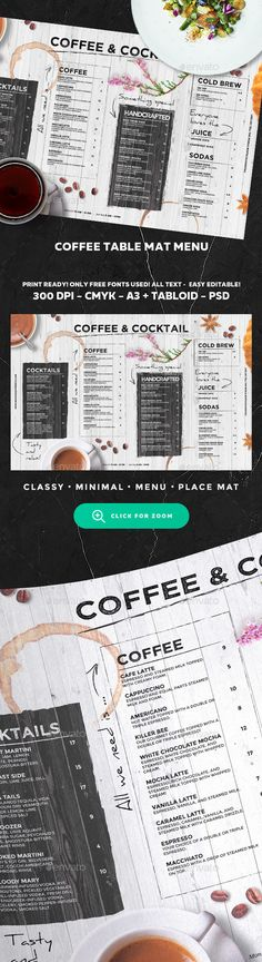 Coffee Menu Template PSD