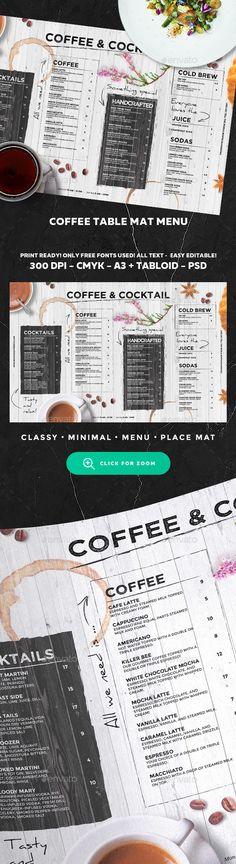Coffee Menu Template PSD