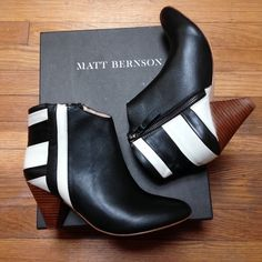 Matt Bernson booties Super stylish booties - never worn!  Perfect for the winter and spring.  No trade and no PayPal, thanks! Matt Bernson Shoes Ankle Boots & Booties