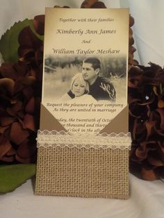 Rustic Country Wedding Invitation Burlap by CrystalsKreationz, $7.50