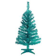 National Tree Company 3-ft. Tinsel Artificial Christmas Tree Floor Decor, Turquoise/Blue (Turq/Aqua)