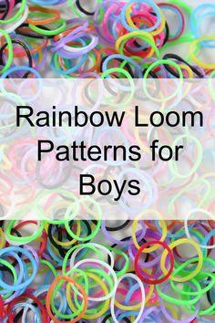 Rainbow Loom Patterns for Boys - Mom vs the Boys Crazy Loom Bracelets, Rainbow Loom Bracelets Easy, Loom Band Bracelets, Rainbow Loom Bands, Rainbow Loom Charms, Rubber Band Bracelet, Rainbow Loom Easy, Rainbow Loom Tutorials, Rainbow Loom Patterns