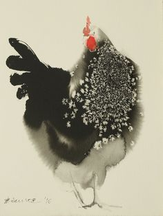 Ink Paintings By Endre Penovac For The Year Of Rooster | Bored Panda