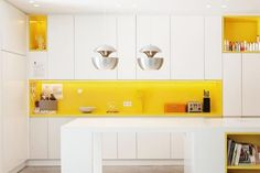 Yellow kitchen will be so much attractive for any home design whether big or small. It gives your room a bright color and more spacious. So, here are some yellow kitchen ideas for designing your kitchen room. Refacing Kitchen Cabinets, Modern Kitchen Cabinets, Modern Kitchen Design, Kitchen Flooring, Rustic Kitchen, Interior Design Kitchen, Kitchen Backsplash, Kitchen Ideas, Modern Design
