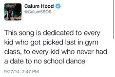 Calum just posted this on twitter I can't hood. I love him so much