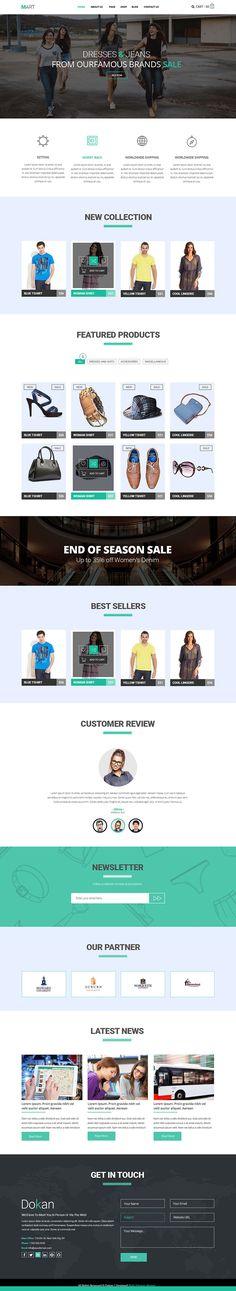 Mart - eCommerce Website Template Free PSD & HTML