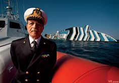 Italian Coast Guard admiral Ilarione Dell'Anna, who oversaw the rescue effort of the Costa Concordia shipwreck, photographed by Jonas Fredwall Karlsson.