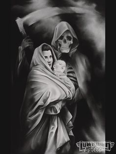 Mason Williams Tattoo Mother Baby Grim Reaper