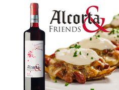 Alcorta & Friends tinto con patatas al más puro estilo mexicano.