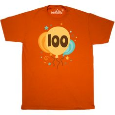 100th Birthday T Shirt Has Colorful Balloon Party Design 1899 Custombirthdaytshirts