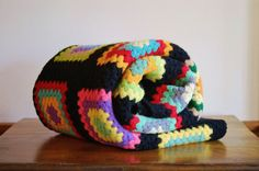 Beautiful, bright granny square #afghan! - SOLD! :)