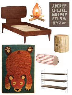Camping-themed kids room