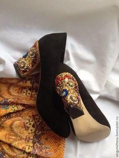 """Купить Туфли""""First Idol""""в стиле DG - подиум, византийский стиль, византия, красивая обувь"""
