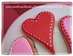 Valentine Cookies.. Mini Chocolate Chip Cut Out cookies
