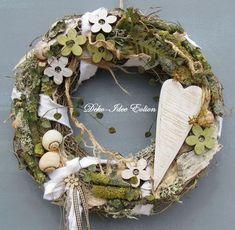 13200db5d20baef6d0c47b8dc4588441 Diy Ostern, Decoupage Box, Nature Decor, Summer Wreath, Porch Decorating, Easter Crafts, Flower Decorations, Grapevine Wreath, Dried Flowers