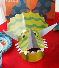 dinosaur party hats (set of 8)