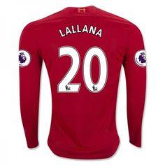 Liverpool 16-17 Adam #Lallana 20 Hjemmebanesæt Lange ærmer,245,14KR,shirtshopservice@gmail.com