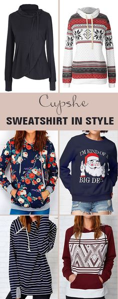 Time to warm up the season! Here are the chic and comfy items which will show your beauty in the autumn. Trending sweatshirts! FREE shipping! Check them out.